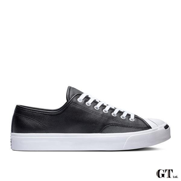 【GT】Converse Jack Purcell Ox 黑 男鞋 女鞋 低筒 皮革 復古 開口笑 運動鞋 休閒鞋 帆布鞋 164224C