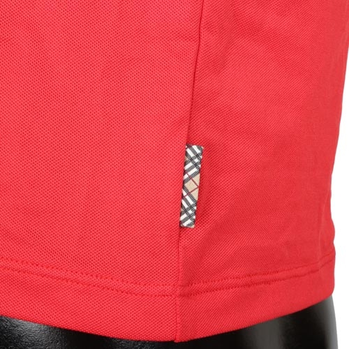 BURBERRY圓領修身透氣休閒上衣(紅色)085182-4