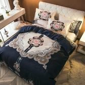 四件套全棉純棉床單床上被套雙人婚慶1.8M學生宿舍單人1.5三件套