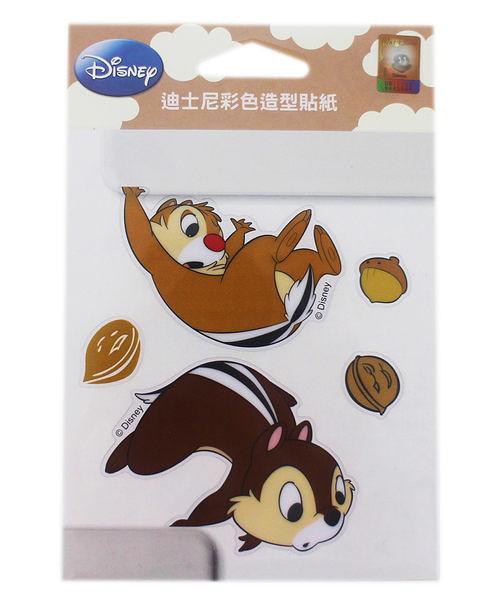 【卡漫城】奇奇蒂蒂 彩色造型貼紙 ㊣版 透明 防水 迪士尼 Chip n Dale 花栗鼠 松鼠 台灣製造 裝飾貼