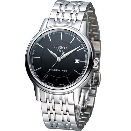 天梭 Tissot Carson 經典紳士機械錶 T0854071105100