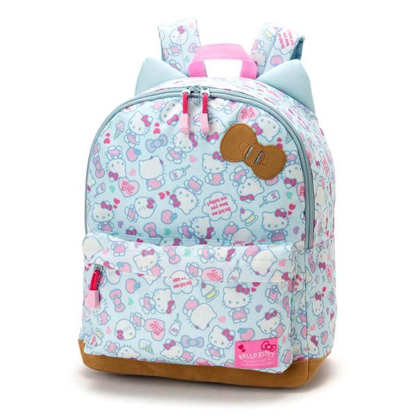 Hello Kitty後背包 滿版牛奶蛋糕造型童用尼龍輕量後背包/書包 [喜愛屋]