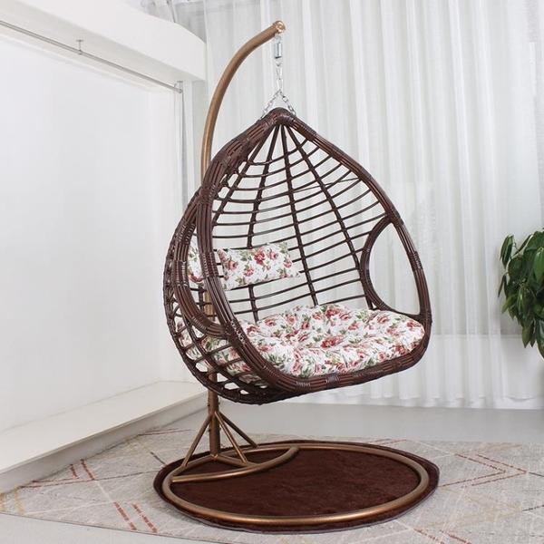 雙人吊籃藤椅懶人鳥巢吊椅家用網紅吊床室內搖籃椅陽台椅子秋千  夢藝家
