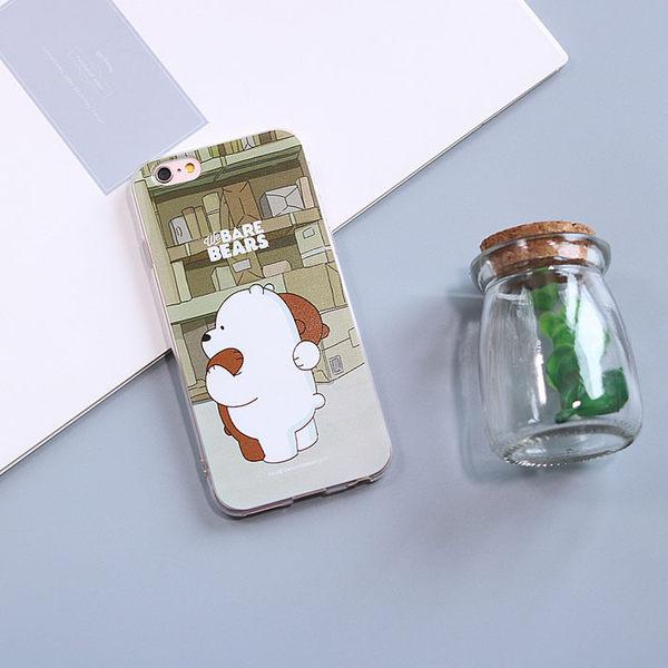 iPhone手機殼 可掛繩 原創咱們裸熊愛抱抱 浮雕矽膠軟殼 蘋果iPhone7/iPhone6 手機殼