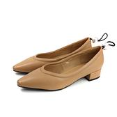 HUMAN PEACE 尖頭鞋 低跟鞋 卡其色 女鞋 9091-3-08 no012