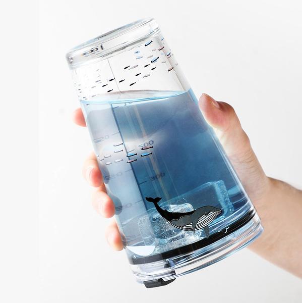 加厚刻度玻璃杯 刻度杯 牛奶杯 咖啡杯 DKTYBLB 梅森瓶 沙拉罐
