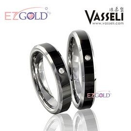 VASSELI ◤慕尼黑之旅◢ 鎢鋼鑽石戒(女)