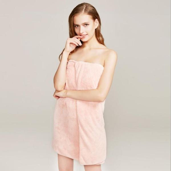成人浴巾比純棉吸水加大加厚純色居家柔軟情侶抹胸珊瑚絨浴裙 聖誕裝飾8折