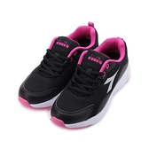 DIADORA 輕量運動跑鞋 黑桃 DA31626 女鞋