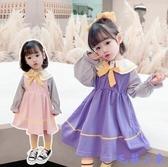 女童秋裝連身裙2020新款韓版兒童長袖裙子小童寶寶公主裙春秋洋氣 【毛菇小象】