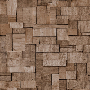 歐NINE壁紙-拼塊木紋 棕 86063