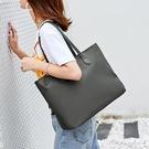 新簡約帆布包托特包尼龍布包手提女包大容量包包側背包女大包 黛尼時尚精品