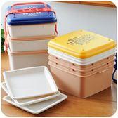 日式三層便當盒 多層野餐盒 大容量可微波塑料手提飯盒88折開學季,88折下殺