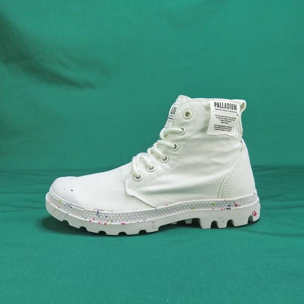 Palladium PAMPA HI ORGANIC 高統靴 正品 96199116 白色 女款【iSport愛運動】