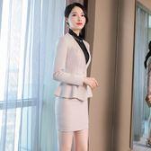 職業裝女2018新款時尚氣質修身西裝套裝正裝ol工作服 萬客居