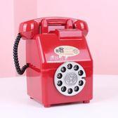 韓國INS少女粉色復古電話存錢罐 可愛儲蓄罐房間裝飾擺件道具禮物  伊莎公主