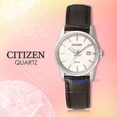 CITIZEN 星辰 手錶專賣店 EU6001-03A 石英 女錶 日期 皮革錶帶 生活防水