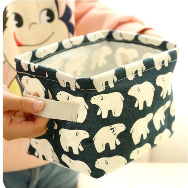收納盒 【BNA033】布藝時尚棉麻萬用收納盒(4L) 刺蝟 鯨魚 收納箱 收納盒 123ok
