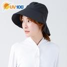 UV100 防曬 抗UV-透氣寬簷刺繡漁夫帽