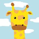 LOVIN 超萌韓版數字油畫動物系列可愛麒麟鹿(5) 1幅