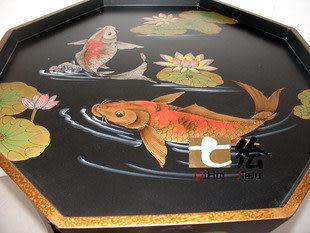 新古典中式田園漆器 彩繪茶幾