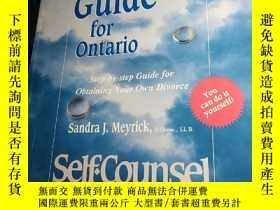 二手書博民逛書店DIVORCE罕見GUIDE FOR ONTARIO STEP-