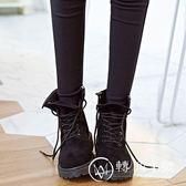 馬丁靴女英倫風復古2017新款學生韓版百搭粉色靴子平底短靴