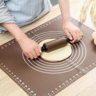 大號揉面墊硅膠墊家用不沾烘焙墊搟面墊和面板案板搟面杖套裝 茱莉亞
