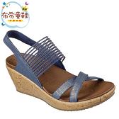 《布布童鞋》SKECHERS_CALI系列耀眼藍色女款楔型涼鞋(23~26公分) [ N9F723B ]