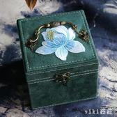 飾品盒 首飾收納盒家用中式簡約首飾盒小號古風大容量女中國風 nm12243【VIKI菈菈】