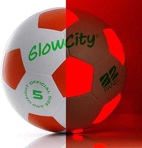 [2美國直購] 發光足球 Light Up-Soccer Ball Size 5|Glow in The Dark|Official Size Weight|Uses 2 Hi-Bright