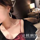 耳環  2019新款潮人耳飾珍珠繞線大號耳圈氣質百搭耳環韓國夸張耳墜女