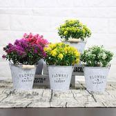 仿真花客廳綠植假花 玫瑰花束餐桌花藝室內假盆栽擺設裝飾花 擺件 萬聖節
