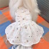 寵物裙子清新純棉薄款裙子寵物狗狗衣服春夏貴賓泰迪犬比熊服裝 貝芙莉女鞋