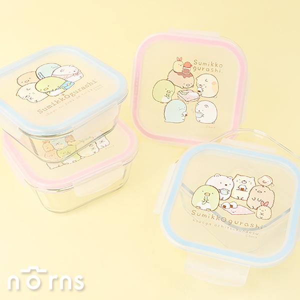 角落生物方型玻璃保鮮盒- Norns 角落小夥伴正版 便當盒 可微波加熱餐盒