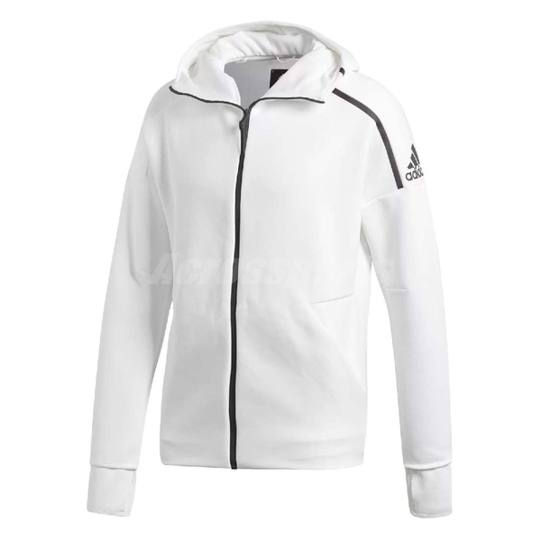 adidas 外套 Z.N.E. Hoodie 男款 ZNE 帽T外套 連帽外套 長袖 上衣 夾克 明星著用款 白 【ACS】 CY9903