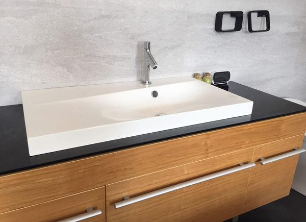 【麗室衛浴】 美國KOHLER IDOL系列 精緻人造石一體成型檯面盆K-45769T-0 尺寸91*49.5*6CM