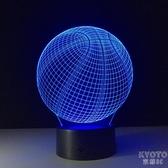 創意禮品NBA籃球燈3D立體視覺小夜燈LED七彩色臺燈擺件帶藍牙音響 京都3C