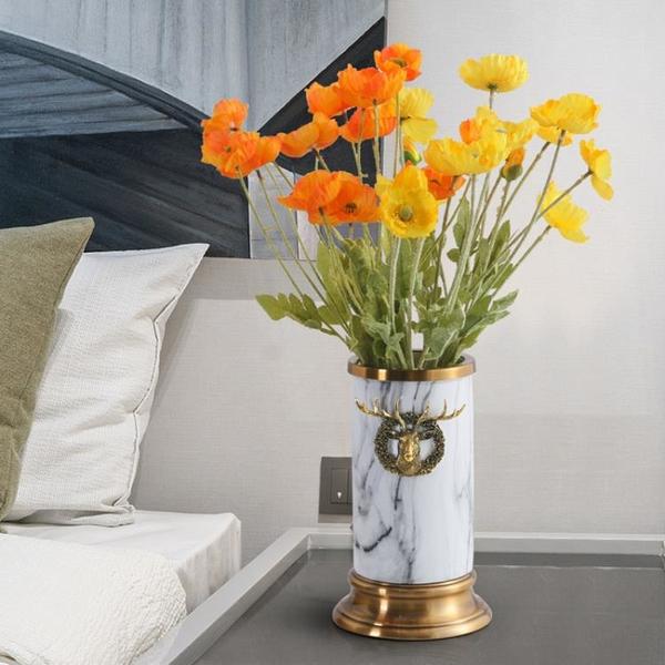客廳裝飾品擺件樹脂工藝品金屬銅色創意現代輕奢新房