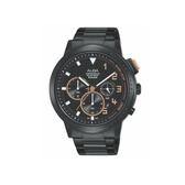 ALBA雅柏 新上市廣告款 帥氣三眼計時錶 VD53-X340SD(AT3F31X1)-黑