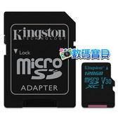 【免運費】 KingSton 金士頓 Canvas Go! microSDXC 128GB UHS-I U3 (SDCG2,90MB/s讀&45MB/s寫,終身保固) 128g