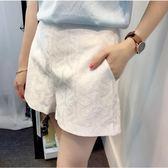 黑五好物節孕婦短褲夏季蕾絲提花托腹褲懷孕期褲子2018款孕婦裝夏裝薄款熱褲   初見居家