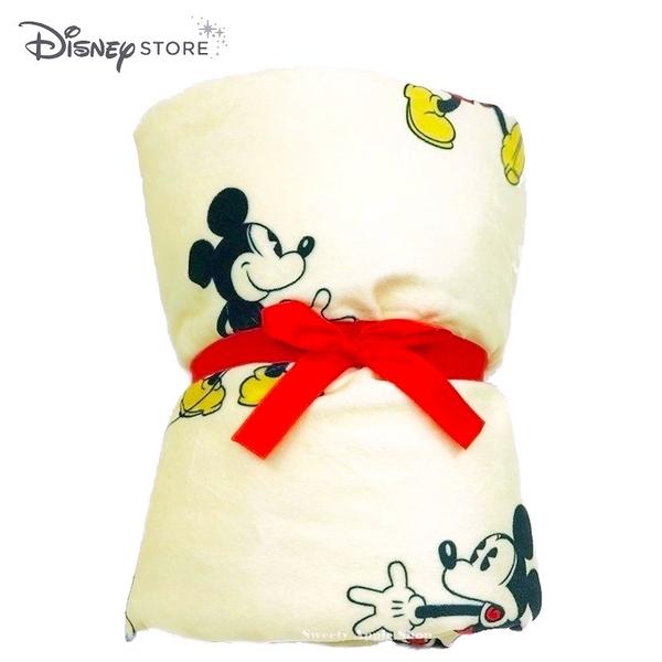 日本 DISNEY STORE 迪士尼商店限定 米奇 多表情滿版 折疊收納 毛毯 / 被毯 / 披肩蓋毯