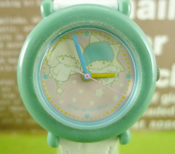 【震撼精品百貨】Little Twin Stars KiKi&LaLa 雙子星小天使~手錶~粉綠【共1款】