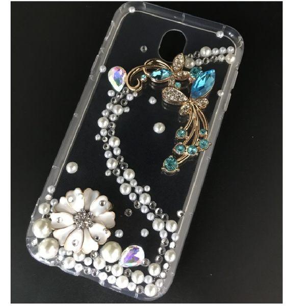 蘋果 XR XS Max IPhoneX IX I8 Plus I7 I6S 手機殼 水鑽殼 訂做 浪漫蝴蝶