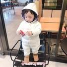 兒童連體睡衣 嬰兒童裝連體衣服男童寶寶羽絨棉服睡衣外套裝睡衣加厚外出秋冬裝 - 歐美韓