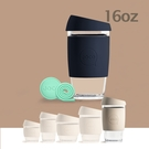 澳洲JOCO啾口玻璃隨行咖啡杯16oz|473ml-七色可選 隨行杯 手沖咖啡 玻璃杯 外帶杯 拿鐵杯 交換禮物