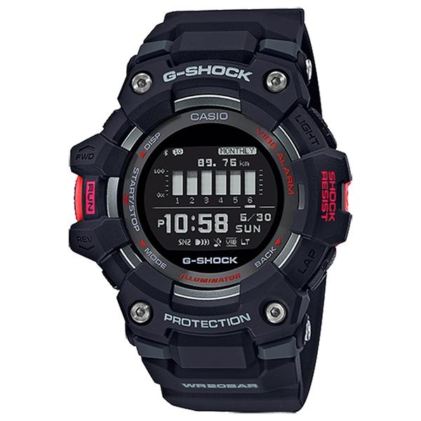 CASIO 卡西歐 G-SHOCK G-SQUAD 智能藍牙多功能運動電子錶 GBD-100-1