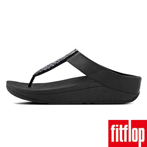 【FitFlop】SPARKLIE TM CRYSTAL TOE THONG(黑色)