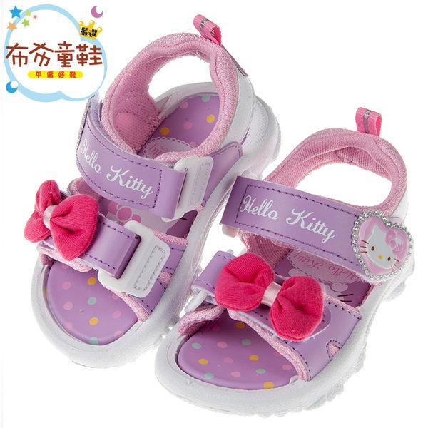 《布布童鞋》HelloKitty凱蒂貓典雅蝴蝶結紫色兒童涼鞋(13~18公分) [ C8B108F ]